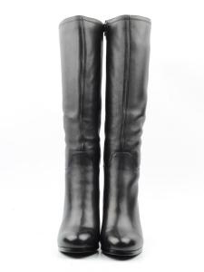 K81-A1 BLACK Сапоги зимние женские (натуральная кожа, натуральный мех (еврозима))