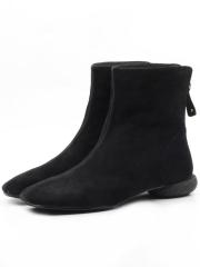 T01-601 BLACK Ботинки женские (натуральная замша)