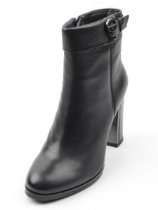 D8-4080 BLACK Ботинки женские (натуральная кожа, байка)