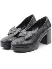 786-01 BLACK Туфли женские (натуральная кожа)