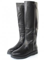 813R-1A1 J6261F BLACK Сапоги женские (натуральная кожа, натуральный мех (евромех))