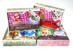 8M Подарочный набор на 8 марта (ремень,полотенце,платок)