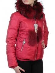 Y1055P Куртка зимняя женская (70% пух, 30% перо, натуральный мех енота)