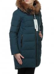 9196 Пальто зимнее женское (холлофайбер, натуральный мех енота)