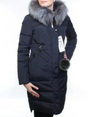 18250-1 Пуховик женский зимний (холлофайбер, натуральный мех чернобурки)