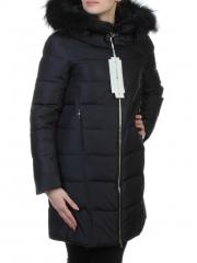 9072 Пальто зимнее женское с мехом (холлофайбер, натуральный мех енота)
