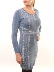 1507-10 Платье трикотажное (73% хлопок, 27% нейлон)