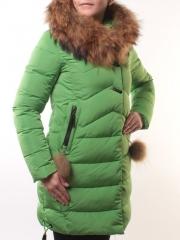 17-106 Пальто женское зимнее (холоффайбер, натуральный мех енота)