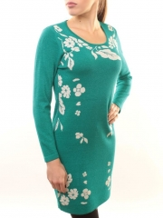 1507-14 Платье трикотажное (73% хлопок, 27% нейлон)
