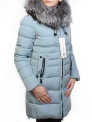 D16-758 Пальто зимнее женское (холлофайбер, натуральный мех чернобурки)
