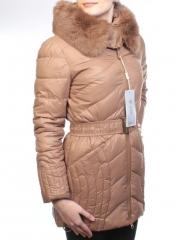 M-16 Пальто зимнее женское (холлофайбер, натуральный мех лисицы)
