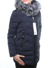 D16-276 Пальто зимнее женское (холлофайбер, натуральный мех чернобурки)