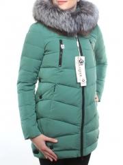 M16-98 Пальто зимнее женское (холлофайбер, натуральный мех чернобурки)