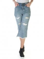 7065 Бриджи джинсовые женские (98% хлопок, 2% полиэстер)