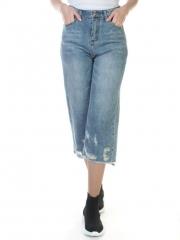 7306 Бриджи джинсовые женские (80% хлопок, 20% полиэстер)
