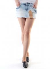 SK-21E Юбка джинсовая женская (98% хлопок, 2% спандекс)