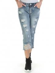 6515 Бриджи джинсовые женские (98% хлопок, 2% полиэстер)