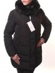 1668 Пальто женское зимнее (холлофайбер, искусственный мех)