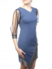 M1909 Платье женское (90% полиэстер, 10% эластан)