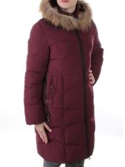 19-891 Пальто с мехом енота Kacuci