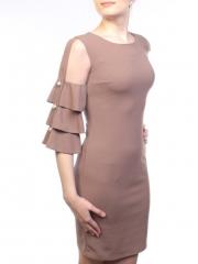 019 Платье женское (90% полиэстер, 10% эластан)