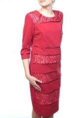 N1913 Платье женское (90% полиэстер, 10% эластан)