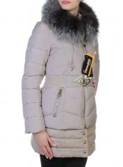 YM-L916 Пальто с мехом чернобурки KSA