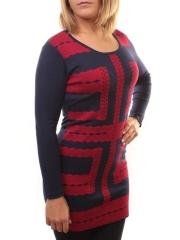 BO-187 Платье трикотажное (73% хлопок, 27% нейлон)