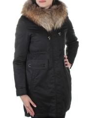 17-118 Пальто с мехом енота Meajiateer