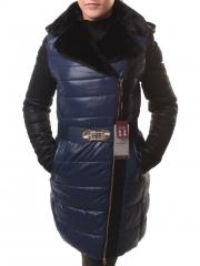 KY86-5177 Пальто женское зимнее (тинсулейт, искусственная кожа, искусственный мех)