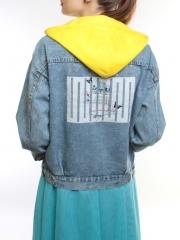 2247 Куртка джинсовая женская (95% хлопок, 5% полиэстер)