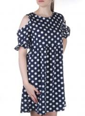 916 Платье летнее в горошек Fashion