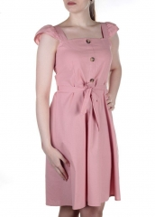 826 Платье хлопковое с поясом Fashion