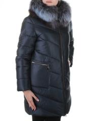805 Пальто стеганое с мехом чернобурки Binyu