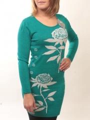 1507-11 Платье трикотажное (73% хлопок, 27% нейлон)