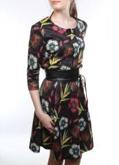 0580 Платье женское (95% полиэстер, 5% эластан)