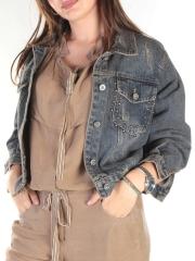 8801 Куртка джинсовая женская