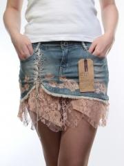 9025 Юбка джинсовая женская (97% хлопок, 3% полиэстер)