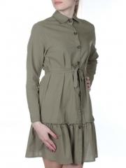 806 Платье хлопковое с рюшами Fashion