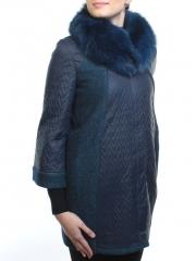 A16002 Пальто демисезонное женское (синтепон 100 гр., натуральный мех лисицы)