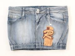 SK-100E Юбка джинсовая женская (98% хлопок, 2% спандекс)