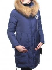17-23 Пальто зимнее женское (холлофайбер, натуральный мех лисицы)