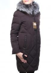 7119-A Пальто зимнее женское (холлофайбер, натуральный мех чернобурки)