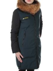 8879 Пальто с мехом енота Alcurnia