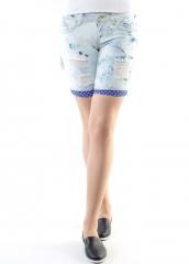 RW6055 Шорты джинсовые женские (98% хлопок, 2% полиэстер)