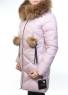 857 Пальто зимнее женское (тинсулейт, натуральный мех лисицы)