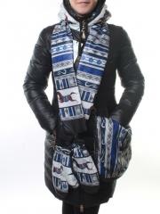 R07 Куртка зимняя с шарфом и сумкой Rocca Maner