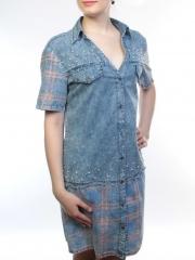 1815 Сарафан джинсовый женский (65% хлопок, 35% полиэстер )
