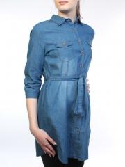 A66005 Рубашка джинсовая женская (100 % хлопок)