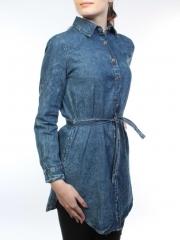 A62002 Рубашка джинсовая женская (100 % хлопок)